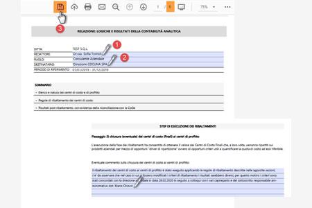Software Contabilità analitica per Centri di profitto e di costo - Relazioni in PDF