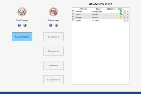 Software Crisi d'impresa - Situazione ditta e archiviazione report